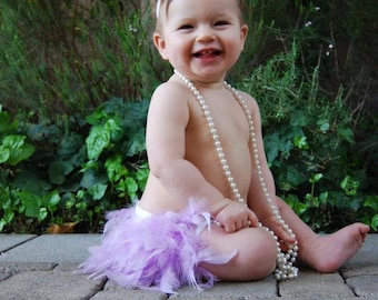 Easter Feather Bloomer & Headband, Easter Feather Diaper Cover, Lavender Feather Bloomer, Babys 1st Easter, Newborn Photo Outfit Easter Tutu