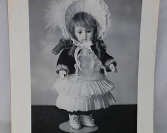 "Shirley Augustine Doll Clothing Pattern SA-119 Olivia (Long Face Jumeau) 8-1/4"""