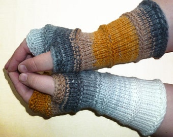 Knit Fingerless gloves | Arm warmers | Womens Fingerless | Long Fingerless Mittens | Wrist warmers | Hand warmers / Vegan Glove