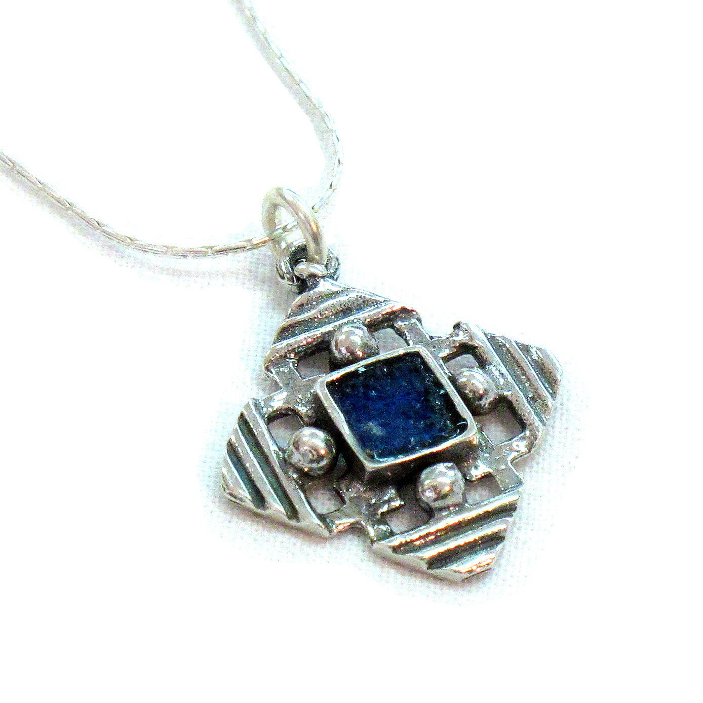 cross jerusalem pendant silver