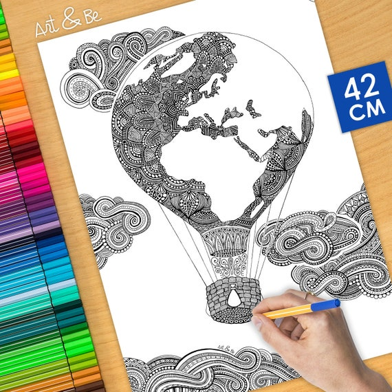 Coloring poster - AIR BAL...