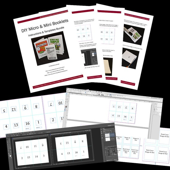 DIY Micro and Mini Booklets Templates InDesign & Photoshop