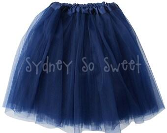 Navy Blue - PLUS Size XL Adult, Teen, Women's 3 Layer Ballet Tutu Skirt - Three Layers, Costume, Running Fun Run, 5K, Rave, Men, Party Dress