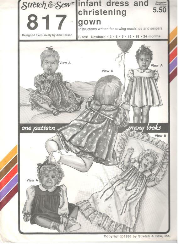 Strecke & Nähen 817 Säugling Erbstück Taufe Kleid Kleid