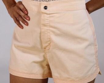 Vintage High Waist PEACH Women's Shorts