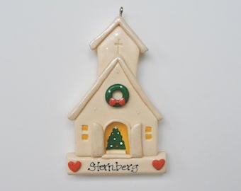 RETIRING DESIGN....Personalized  Church Christmas Ornament/ Religious Ornament/ church