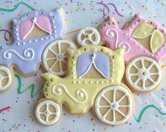 Princess Carriage Cookie Favors - 1 Dozen