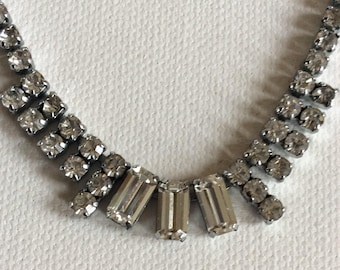 Sparkling vintage paste necklace. Wedding. Brides. Bridesmaids. Party. Prom