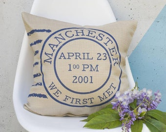 Personalised Postage Stamp Cushion Pillow