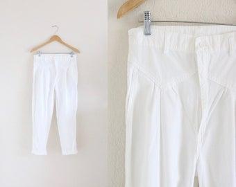 high waist cotton pants - 16