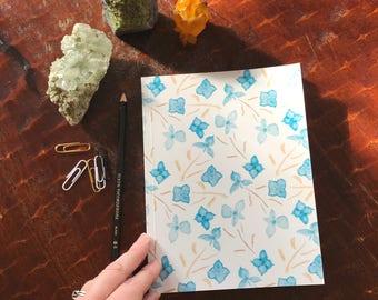 Blue Hydrangea Bud Notebook 6x8