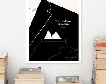 ARISTOTLE Literary Art Prints, Quote Minimalist Poster, Large Wall Art Print, Typography Literary Gifts, Gift for Him, Philosophy Gift