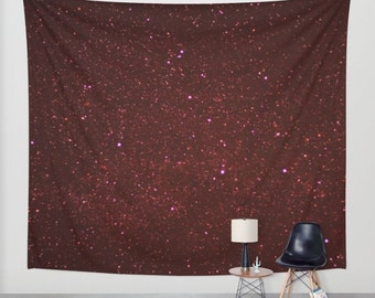 free shipping woodland tapestry, wall hanging, stars tapestry, night sky, starry night, bohemian, nursery decor, space, dark, three sizes