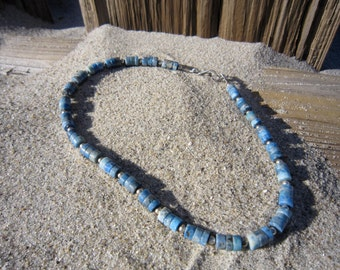 Denim Lapis and Silver Necklace