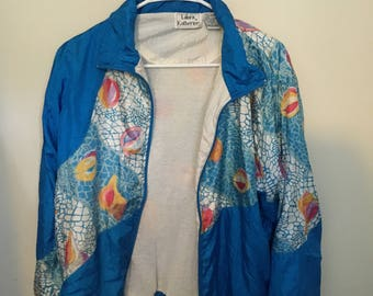 Blue Funky Small Windbreaker