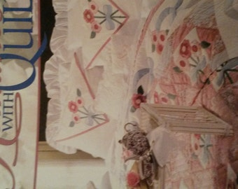 Vintage Paula Vaughan Romance with Quilts 128 pages Leisure Arts Publication