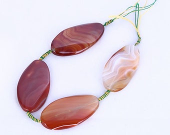 SALE,Red Agate Gemstone Necklace Pendant Bead Set,61x33x7mm,91.53 -20585