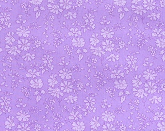 Liberty fabric Tana Lawn Capel- 9''x26'' Fat Eighth Lilac- Classic Collection