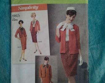 SIMPLICITY, 2154, sewing pattern, 1960s retro, size H5, 6, 8, 10, 12, 14, ladies, jacket, pencil skirt, retro, costume