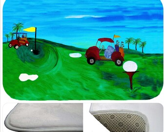 Golf bathmat from my art
