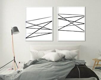 Print Set, Abstract Art, Minimalist Art, Set Of 2 Prints, Large Wall