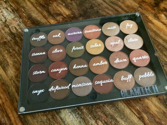 24 Eyeshadow Pan Arbonne Consultant Magnetic Makeup Palette   Allura Option    Makeup Storage   Travel Eye Shadow Palettes   By GlamTech