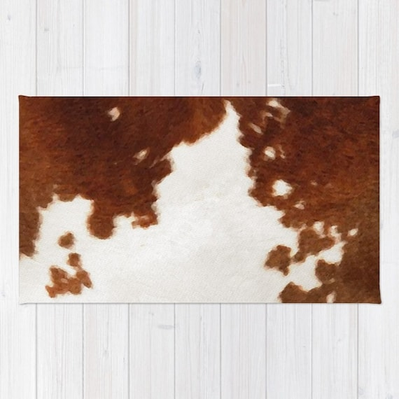 Cowhide Rug Brown And White Cow Print Area Rug 2x3 Rug Cow