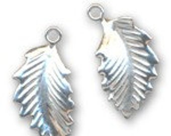 SALE - 2 Sterling Silver Leaves Hollow Back   Fast shipping