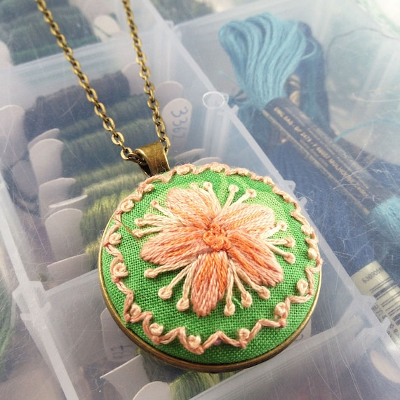 Orange Sherbet Flower Necklace