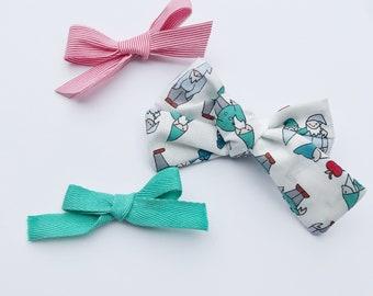 Gnome print bow or set - nylon or clips