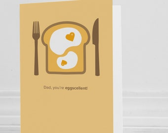 Dad, You're Eggscellent Greeting card