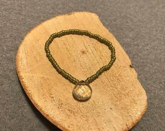 Pineapple quartz bracelet