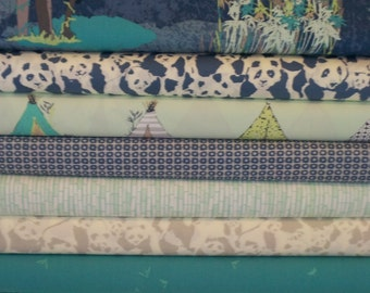 Pandalicious Teal Bundle From Art Gallery - 10 Fabrics - Choose Your Cut