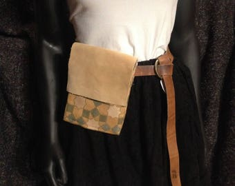 Medieval Belt Pouch Gold Moor Inspired