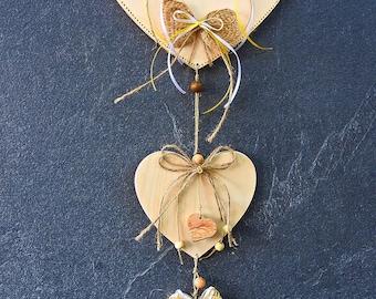 Welcome heart, Heart, window jewelry, Türschmuck, Dekoherz,