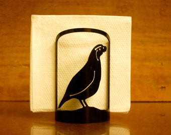 Quail Napkin Holder -3002- Decorative Metal Napkin Holder