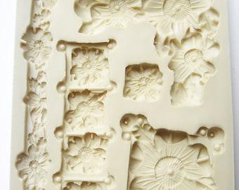 Brand New Summer Floral sheet mold HC175