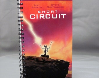 Short Circuit Notebook - Recycled VHS Notebook