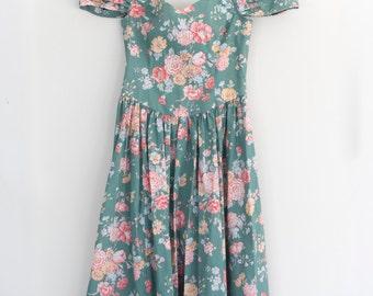 One of a Kind Floral Side Shoulder Gown