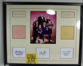 1960's Addams Family Autograph Display