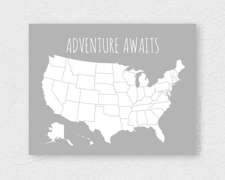 Husband Gift Boyfriend Gift Traveler Gift United States Pin