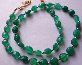 17InchGreen OnyxTrendy jewelry Necklace /Funky jewelry Necklace@DSC06963