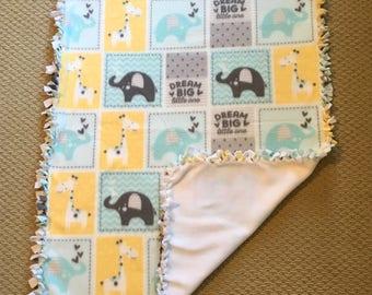 Handmade Baby Boy Fleece Blanket