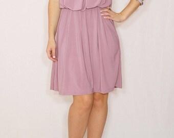 Lilac bridesmaid dress Light purple dress Short dress Party dress Pastel dress