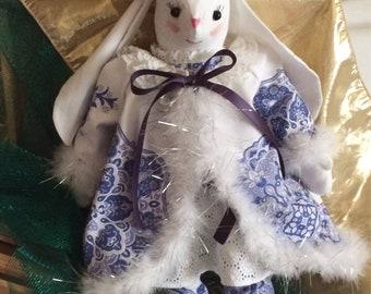 Blue Holiday Bunny