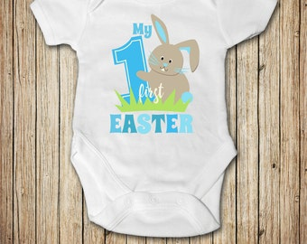 My First Easter Boy Outfit, My First Easter Onesie®, My 1st Easter, Baby Boy Newborn Easter Outfit, Easter Bunny Outfit Onesie®
