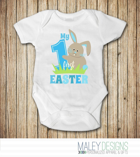 My First Easter Boy Outfit My First Easter Onesie 174 My 1st