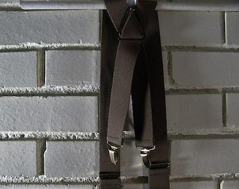Vtg brown khaki suspenders by Pelican