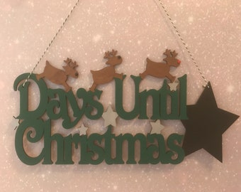 Christmas countdown hanging decoration | Christmas countdown | days until Christmas |