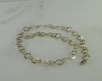 "17"" Open Circle Sterling Necklace"